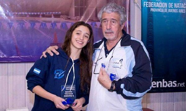 Horizonte dorado para la nadadora olímpica Delfina Pignatiello